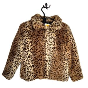 C&C California leopard print teddy coat